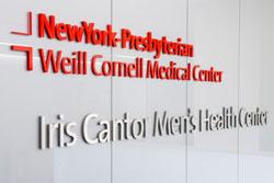 sign at the Iris Cantor Men's Health Center