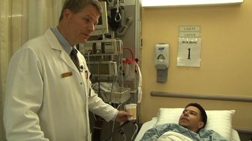 Dr. Len Girardi with patient Joseph Martinez