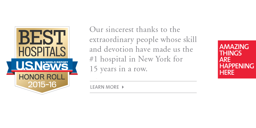 #1 in New York, #7 in the Nation: NewYork-Presbyterian Recognized for Excellence in U.S. News & World Report's Best Hospitals