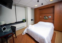 Comfortable looking bedroom used for sleep studies