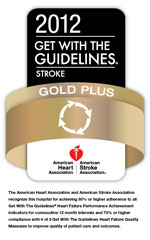 American Heart Association Gold Plus Stroke badge
