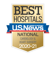 US News National Cardiology & Heart Surgery Badge