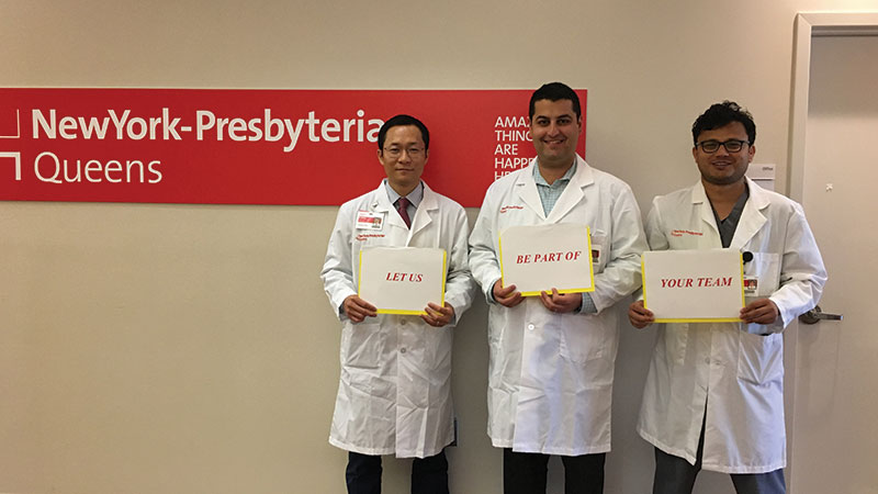 From left to right (PGY-4: Ilhwan Yeo MD, Nathan Haroun Tehrani MD, Minar Gharti Chhetry, MD)