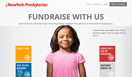 Image of Fundraise With Us webpage