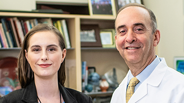 image of Megan Soucy and Dr. Jeffrey M. Liebmann
