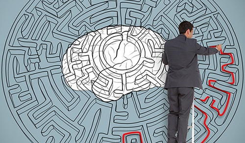 Man mapping a maze in the brain