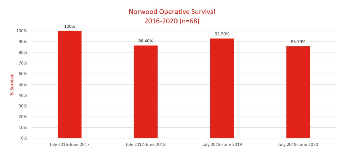 operative survival Norwood, 2016-2020
