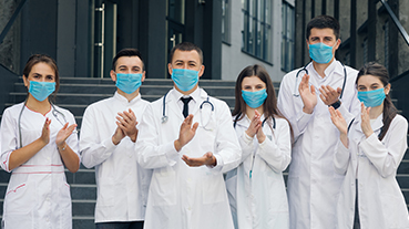image of a group of medical staff wearing masks